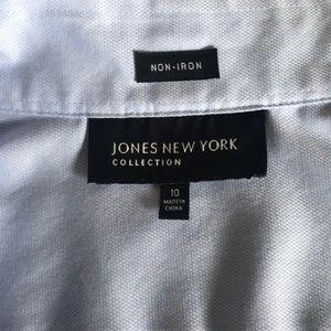 Jones New York Tops - Jones New York Non-iron Light Blue Blouse